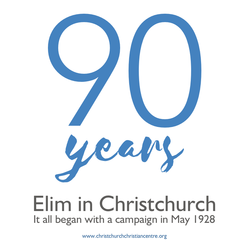 Elim Church Christchurch Dorset 90 Years