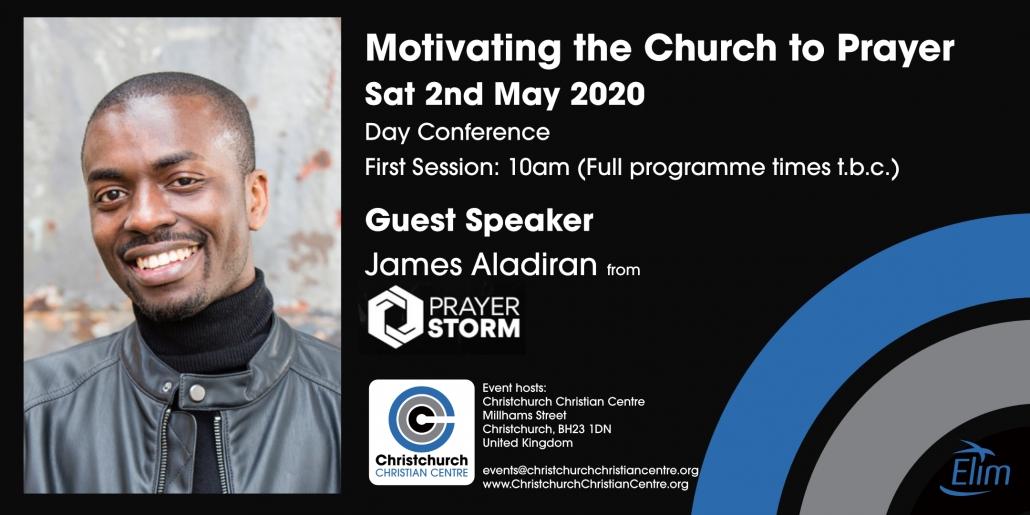 Prayer Storm 2020 James Aladiran Christchurch Dorset Bournemouth