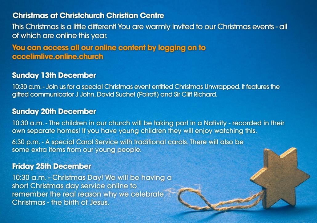 Christmas Events Online Christchurch Dorset